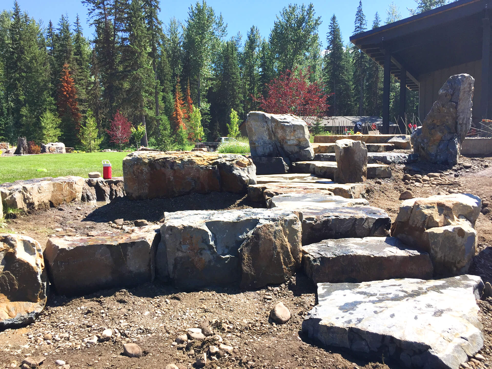 Valley View Contracting - rock retaining walls