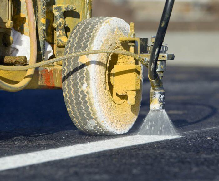 Parking lot line painting services