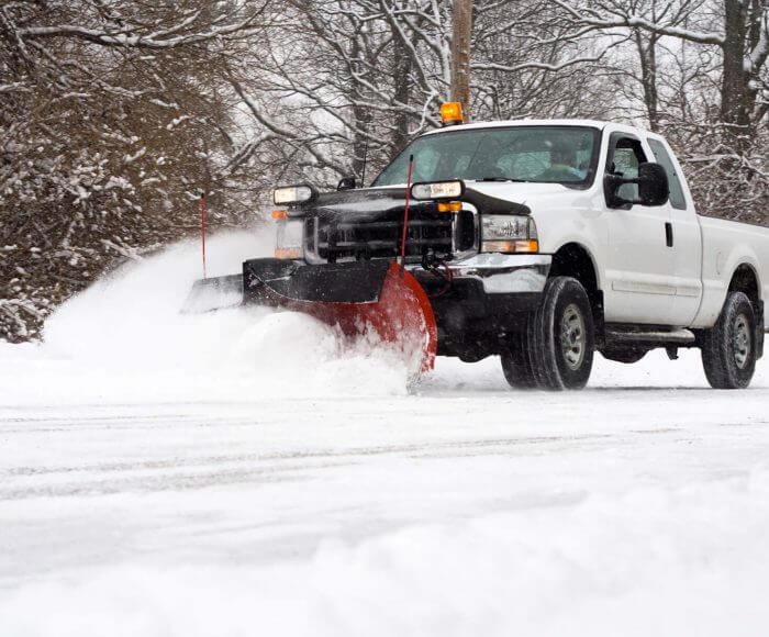 Snow plowing fernie